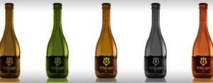 Los formatos estándar de botella tienen una capacidad de 75 cl y 33 cl.